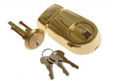 Rim Lock YALE Y2T Brass, Cut Key