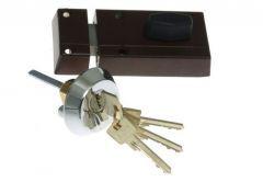 Rim Lock LOB TC11 TAURUS 1 certificated, C Class, Brown