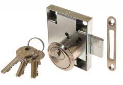 Furniture Lock LOB ZMB-2, Nickel, Left