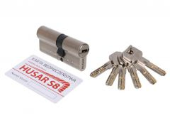 Cylinder HUSAR S8 30/40 nickel satin cl. C, 6 keys
