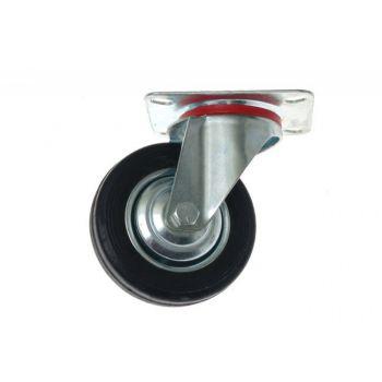 Swivel Castor CKPS-SG 125W - Black Gum (Capacity up to 130 kg)