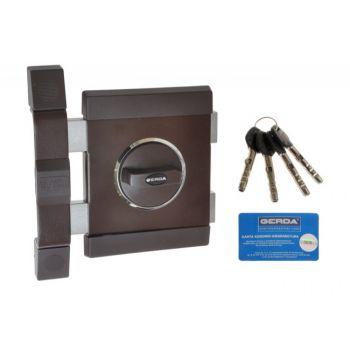 Rim Lock GERDA TYTAN ZX Certificate C Class, 4x keys without Fixing El