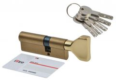 Cylinder lock ISEO R6 45K/30 with knob, brass