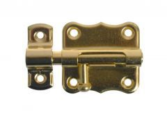Latch Bolt 384-40 - Brass b/lak.