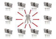 Master key system, key alike with Abus Zolit 1000 cylinders (30/30x10,