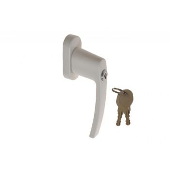 Window Handle L-35mm HR001 with key - White