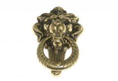 Large KOLD Lion Door Knocker patina