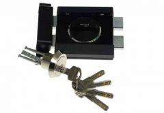 Rim Lock GERDA ZX 1000 Certificate C Class - Black