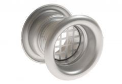 Ventilation Sleeve, Diameter: 40 TW - Matt Chrome (1piece)