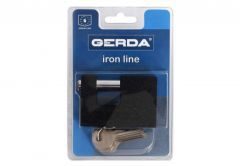 Cast Iron Padlock with Straight Shackle T-80 - Black (Blister Package)