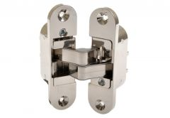 Mortise transparent hinge, nickel- left, large