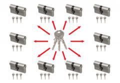 Master key system, key alike with Gege pExtra Plus cylinders (30/30x10