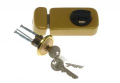 Surface Mounted Cylinder Lock TB61 Gold Lacquer