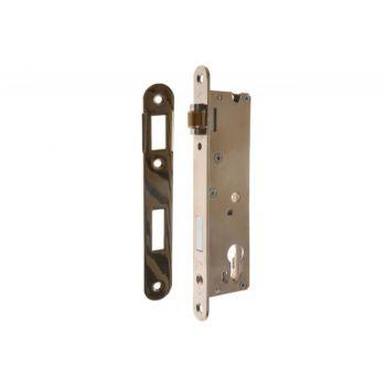 Mortise Lock RZB-4, 34 Roller - Brass, Nickel