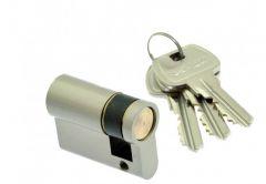Cylinder lock Gerda E1 10/35, pearl nickel