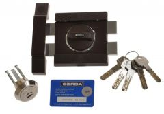 Rim Lock GERDA ZX 1000 certificated C Class - Brown