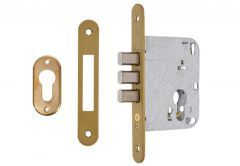 Mortise Lock MCM 612R-MR short with pins, brass