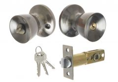 Door Cone Knob  with Cylinder CH 6871, PZ - Patina