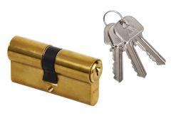 Cylinder lock WY300 25/40 YETI brass