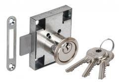 Furniture Lock LOB ZMB-1, Nickel