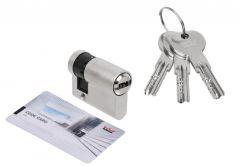 Door Cylinder DORMA DEC 261 10/40, nickel 3 keys, certificatedd 6.2 C