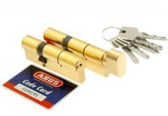 Cylinder SET ABUS D10+KD10MM 30/30 + 30K/30 brass 5.2 class, 5keys