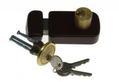 Rim Lock LOB TB52 Double-Cylinder, Brown