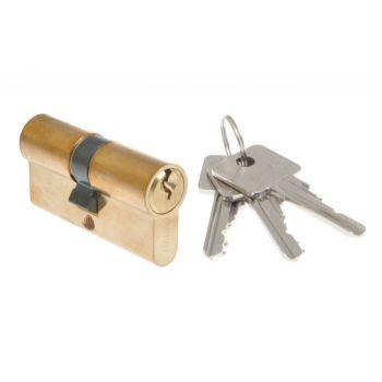 Cylinder lock B-HARKO H6 26/26mm brass 4.0class