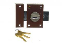 Rim Lock ZDM 3 Keys - Brown