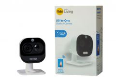 External Camera YALE WiFi with motion detector and microphone, Full HD 1080p