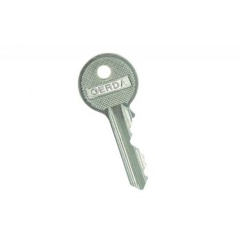 Blank Key GERDA WW Nickel for E1 Cylinders